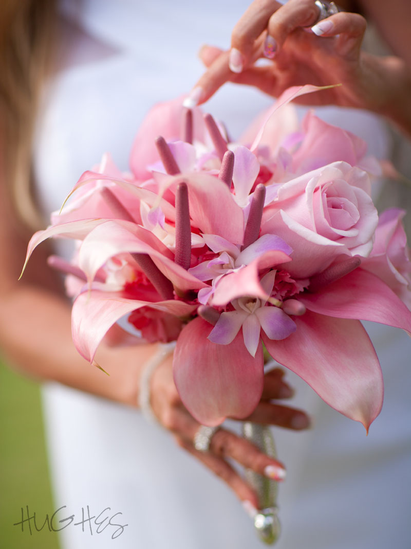 Maui Wedding Bouquet, Rose and Anthirium