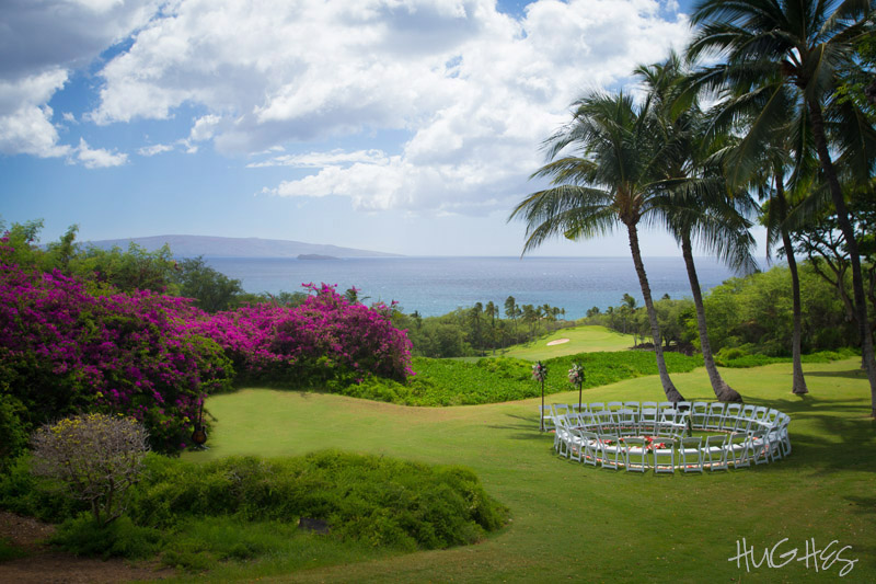 Gannon's lawn, Wailea Maui, wedding ceremony site