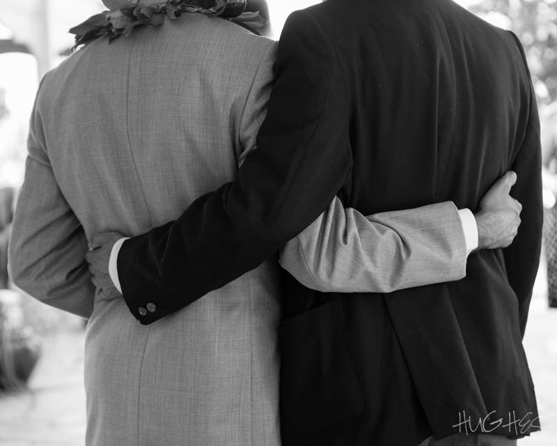 Haiku Maui, wedding, groom and dad
