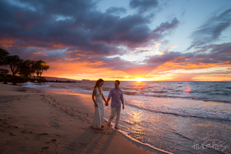 Sunset on an awesome Maui Beach - Wedding Photographer