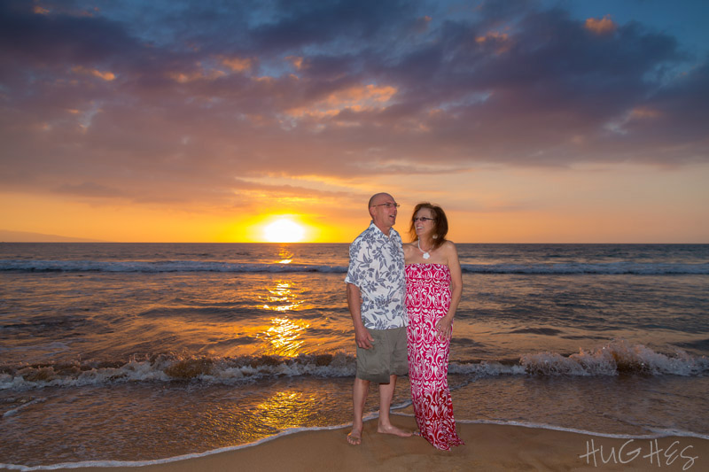 wedding anniversary portrait wailea maui