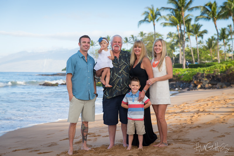 morning family portrait, waliea beach, maui