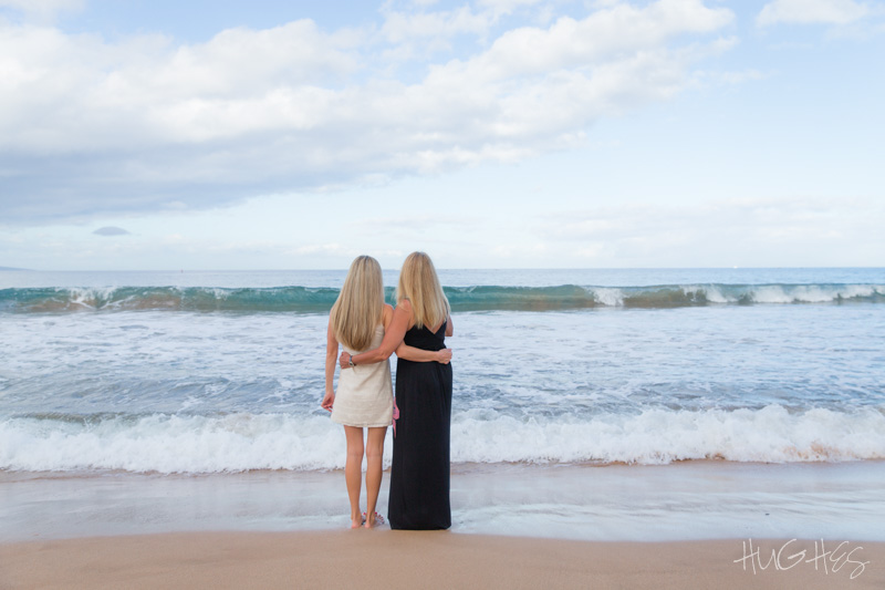 Mom daughter portrait, wailea beach, maui