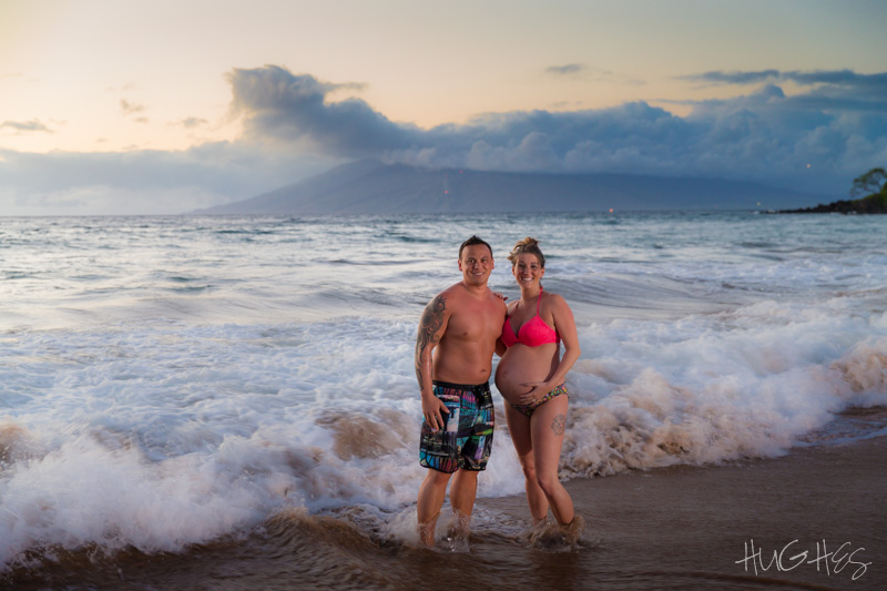 Proud Parents Maternity Photo Shoot Wailea