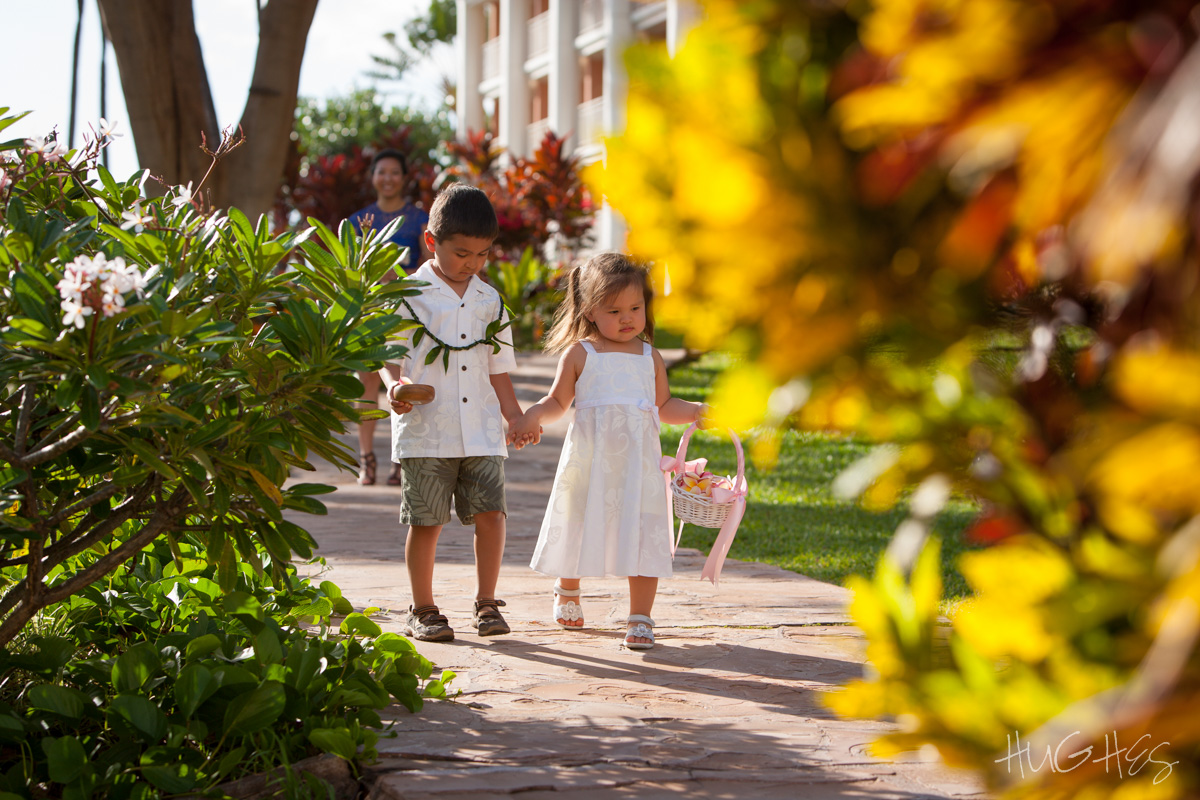 Maui Ring Bearer and Wailea Flower Girl
