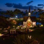 Grand Wailea Seaside Chapel Dusk - - Maui Wedding Photographer