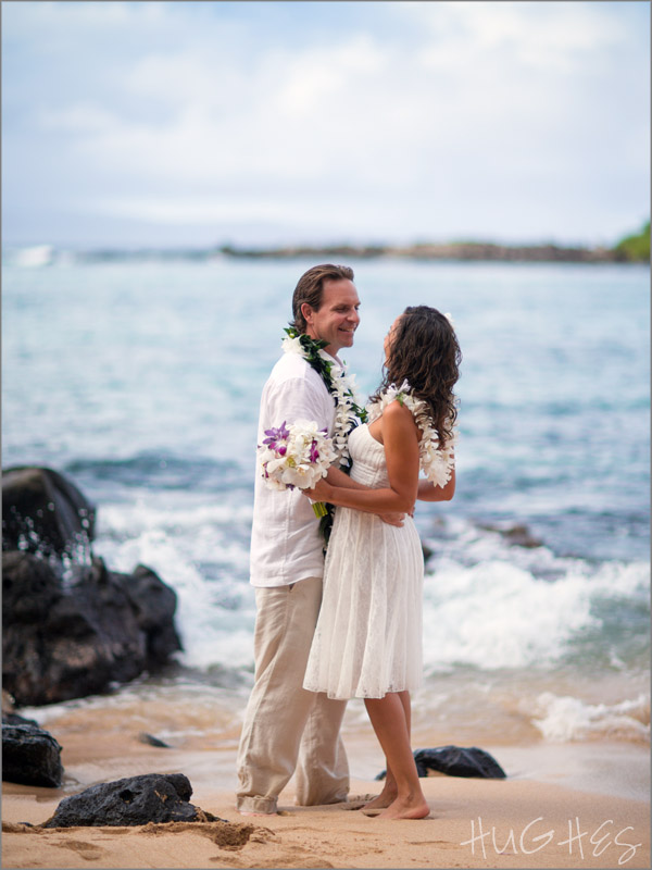 Kapalua Bay, wedding couple, portrait