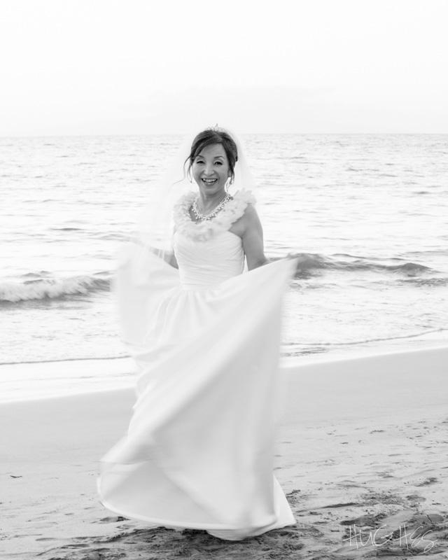 japanese bride, wedding, grand wailea maui