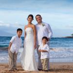 Makena vow renewal, family portrait