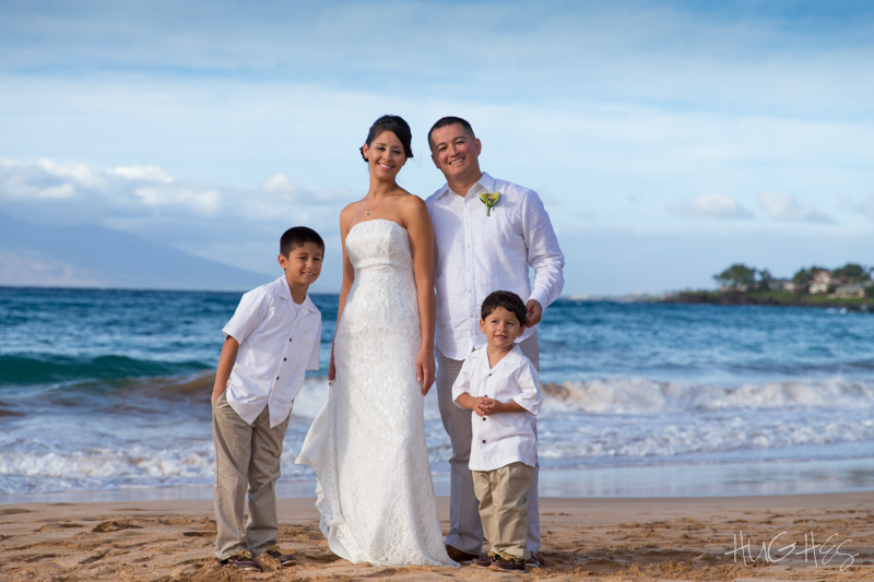 Makena vow renewal, family portrait