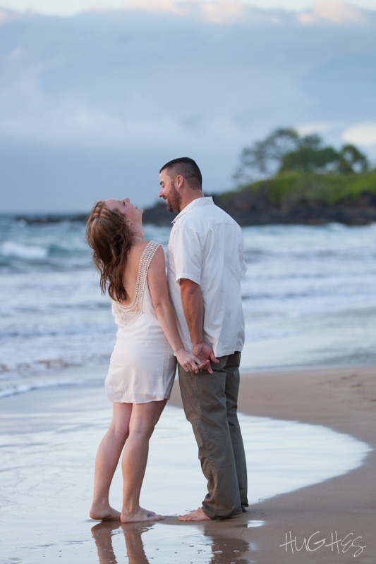 Wailea, Fun Maui engagement portrait