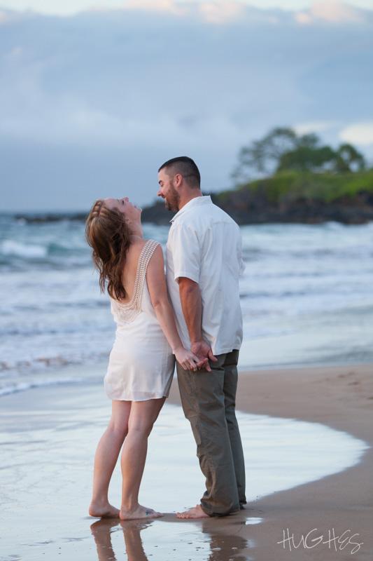 Wailea, Fun Maui engagement portrait