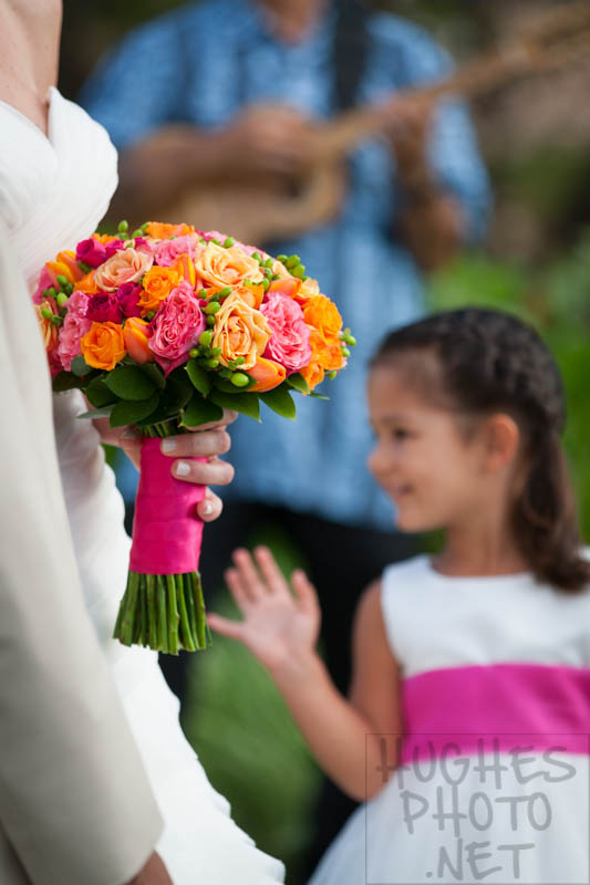 Flower Girl at an Awesome Grand Wailea Wedding