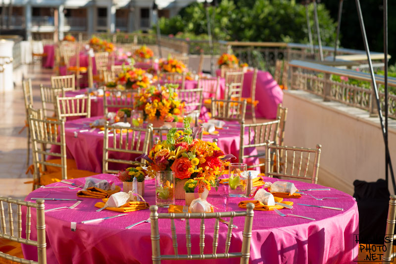 Reception Table Decor at Grand Wailea Resort Maui