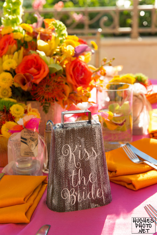 Reception Table Decor Cowbell at Grand Wailea Resort Maui