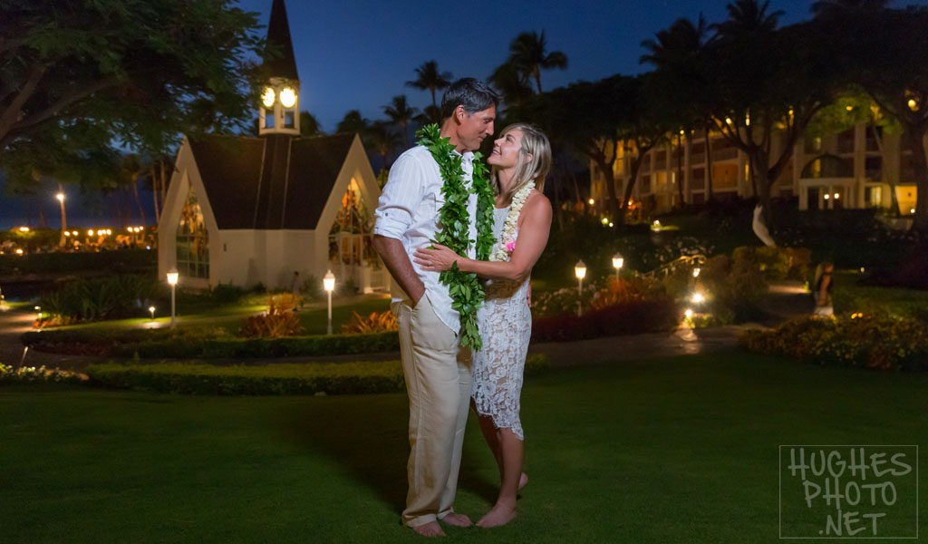 Twilight Bridal Portrait at the Grand Wailea Resort & Spa Maui