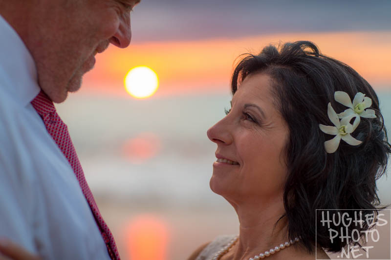 maui wedding sunset bridal portaits