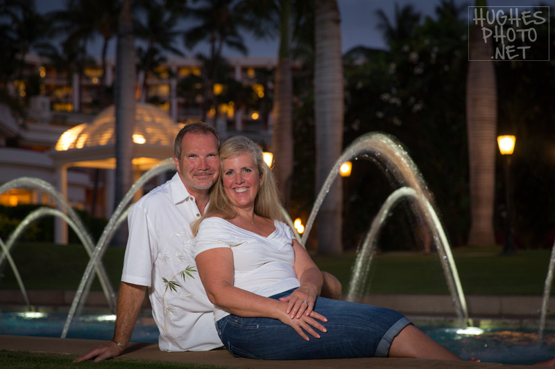 Family Photos! - Grand Wailea Reflecting Pool