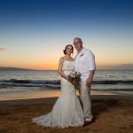 Wailea Beach, Clear Sky Sunset