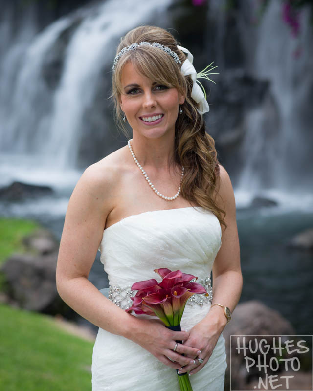 Grands Wailea Bride at Waterfalls