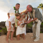 Vow Renewal Certificate Signing on Wailea Beach
