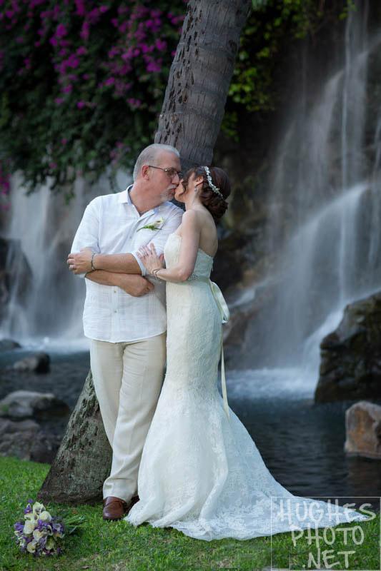 Grand Wailea Resort Waterfall Couple Portrait