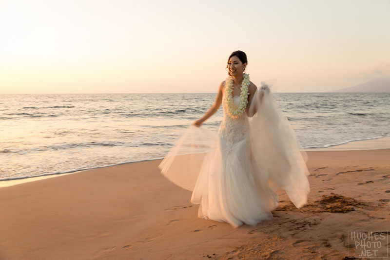 January Maui Bride on Wailea Beach