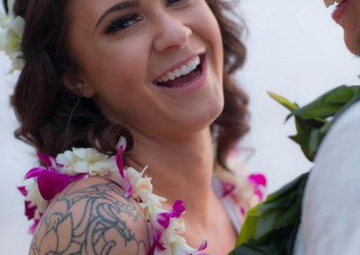 Fun Maui Wedding Couple