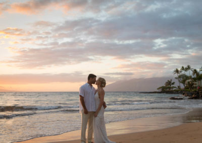 Couple Enjoys Solitude of Wailea Beach